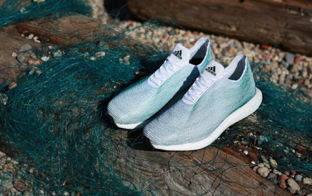 Adidas has released a line of shoes made from ocean trash. Image 1.