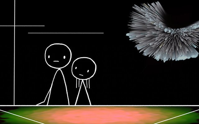"don hertzfeldt, ""World of Tomorrow,"" Sundance. Image 1."