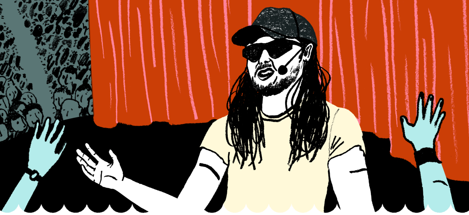 Party king Andrew W.K. brings his zen to motivational speaking. Image 1.
