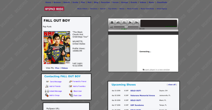 Myspace refugees: waxing philosophical on top 8s and page-view-rated music. Image 1.
