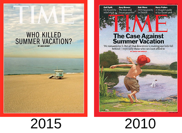 Time Magazine killed summer vacation. Image 1.