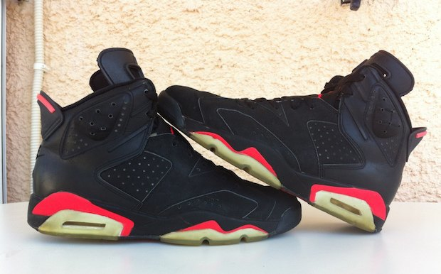 This pair of 1991 OG Infrared 6s went for $1,500 on eBay. Image 3.