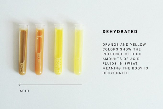 This textile coating makes your sweat glow when you need a drink. Image 1.