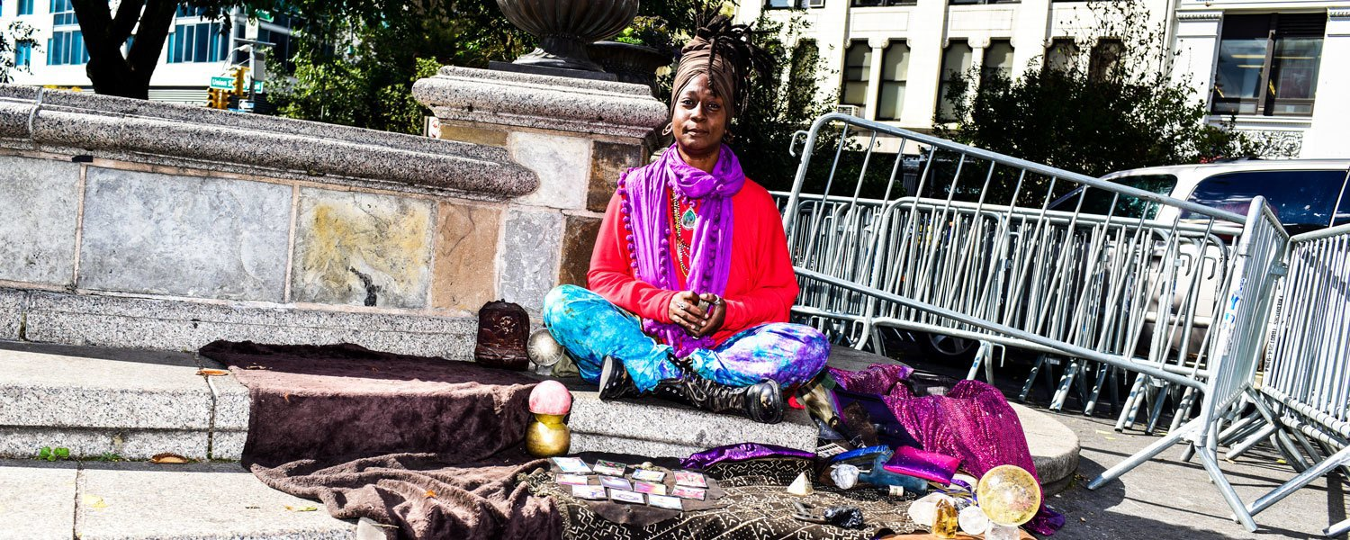 I'm the Union Square psychic and I'll cleanse your soul for ten bucks. Image 1.