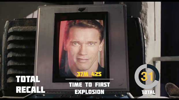 Explosions in 'Total Recall', via YouTube.. Image 1.