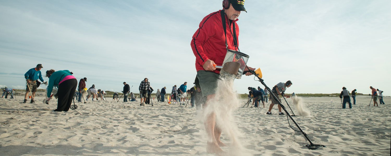 Digging for glory with Long Island's beachcombers. Image 1.