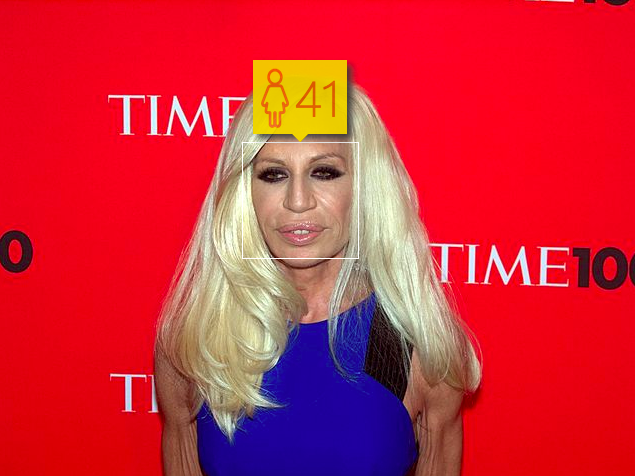 Donatella Versace. Estimated Age: 41. Actual Age: 59.. Image 1.