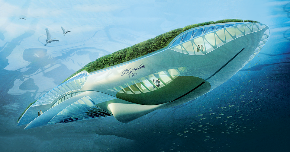 Vincent Callebaut, Amphibious Garden Cleaning European Waterways. Image 3.