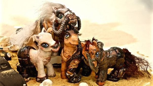 My Little Ponies go Mad Max. Image 1.