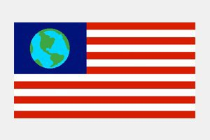 "How does this ""International Flag of Planet Earth"" compare to those in science fiction?. Image 2."