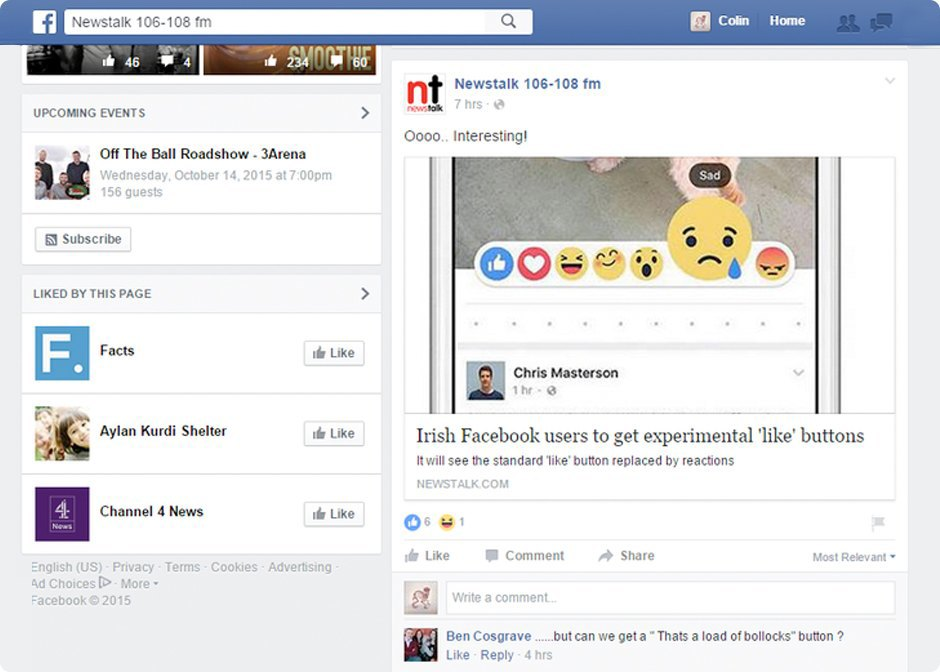 """How will Facebook's """"reactions"""" play with our emotions?. Image 3."""