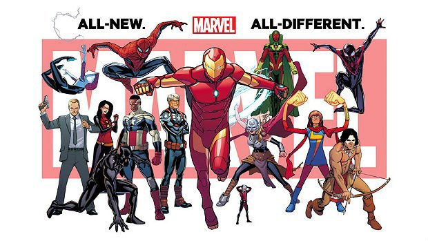 Marvel's All-New All-Different Universe via Marvel.. Image 1.