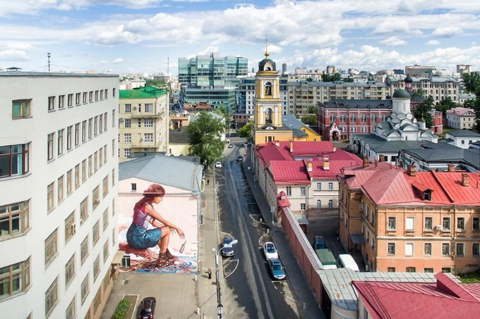 Check out these bird's-eye views of Moscow's street art. Image 2.