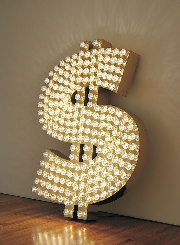 "Tim Noble And Sue Webster, ""$"", 2001. Courtesy of Blain Southern