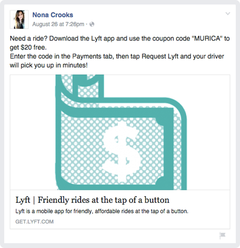 Inside the world of Lyft spam on Facebook. Image 6.