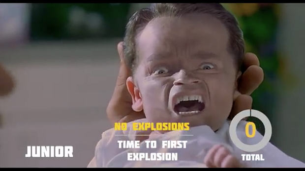Explosions in 'Junior', via YouTube.. Image 4.