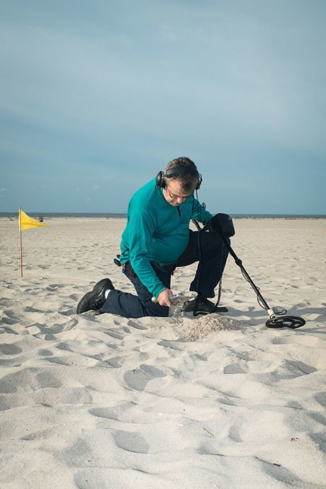 Digging for glory with Long Island's beachcombers. Image 3.