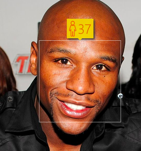 Flyod Mayweather. Estimated Age: 37. Actual Age: 38.. Image 2.