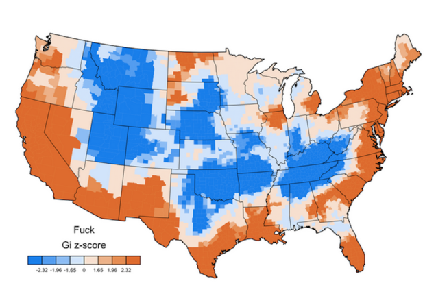 What f@#cking swear word does each American state use the most? . Image 1.