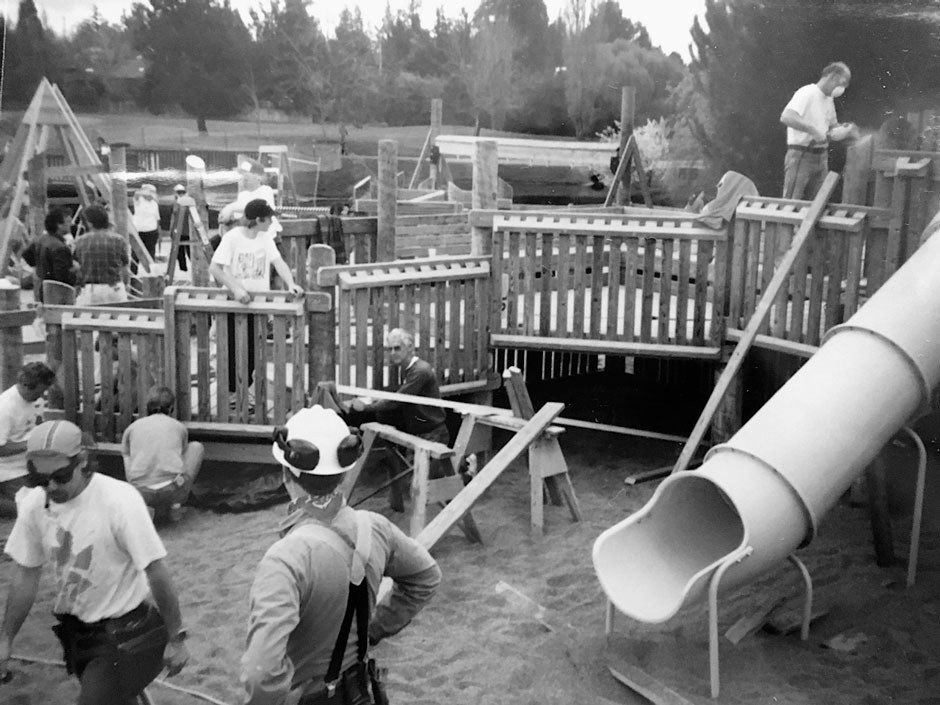 To coordinate and fund all this activity, volunteers running these projects donated months or even years of their lives to making these projects happen. Sebastopol, CA, 1992. Photo Courtesy of Kim Camp.. Image 8.