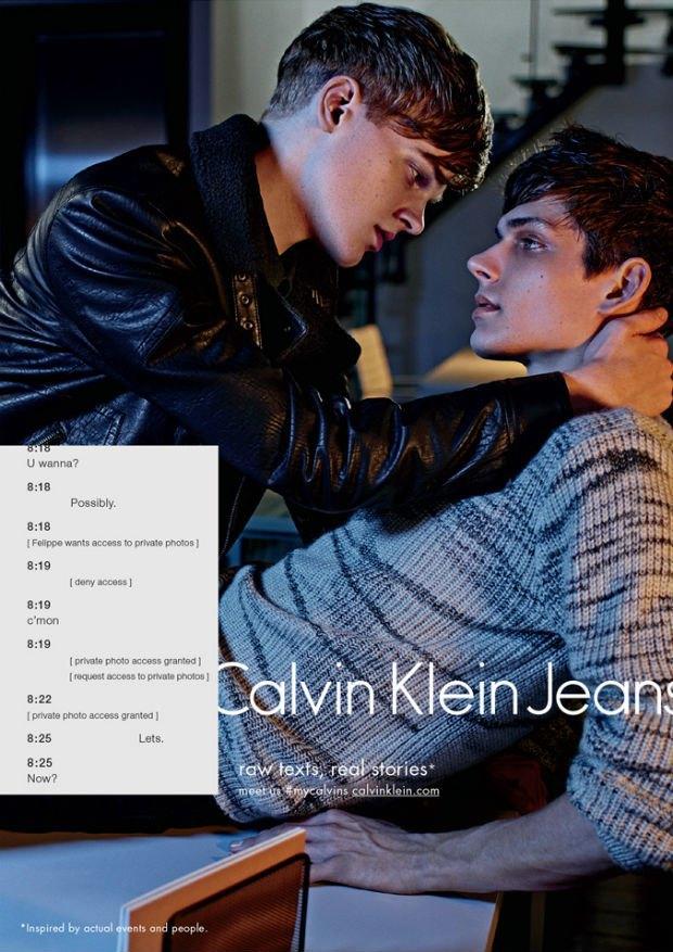 Calvin Klein Fall 2014 Campaign, via Calvin Klein.. Image 2.