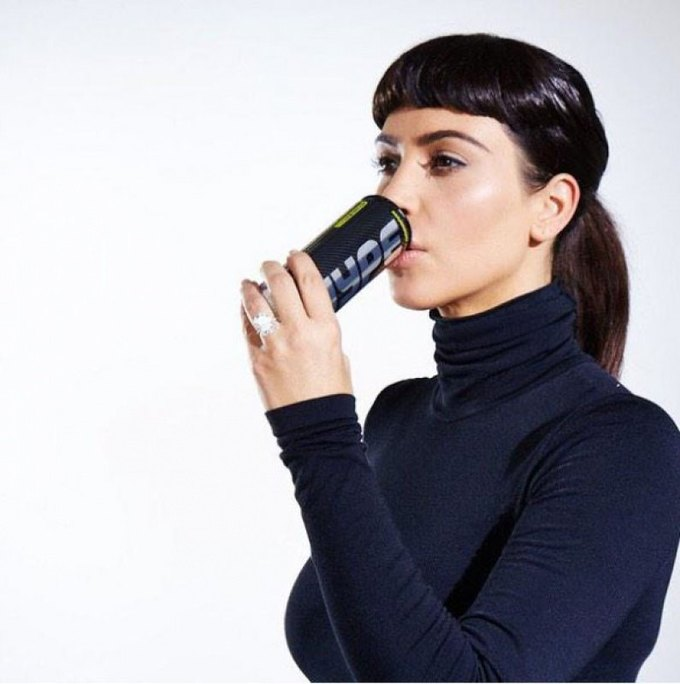 Kim Kardashian gets QT with a new energy drink . Image 1.