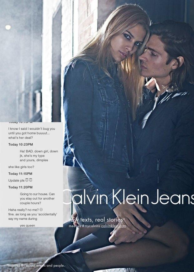 Calvin Klein Fall 2014 Campaign, via Calvin Klein.. Image 1.