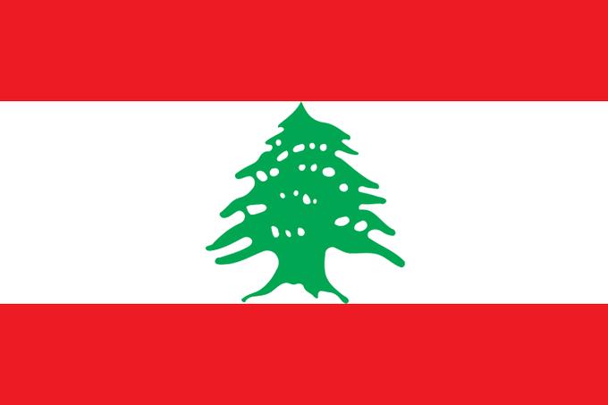 Lebanon's flag. Image: Wikipedia. Image 6.