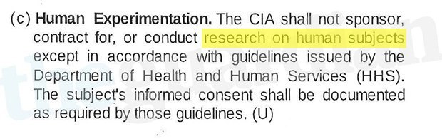 "The CIA didn't get permission for ""human experimentation"" from ""enhanced interrogation"" subjects. Image 1."