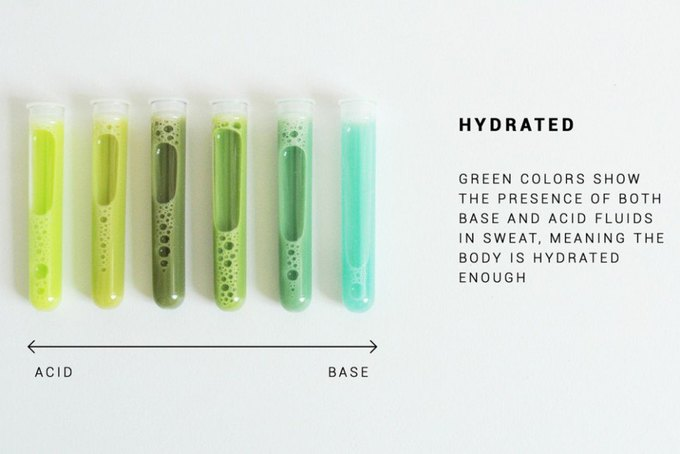 This textile coating makes your sweat glow when you need a drink. Image 2.