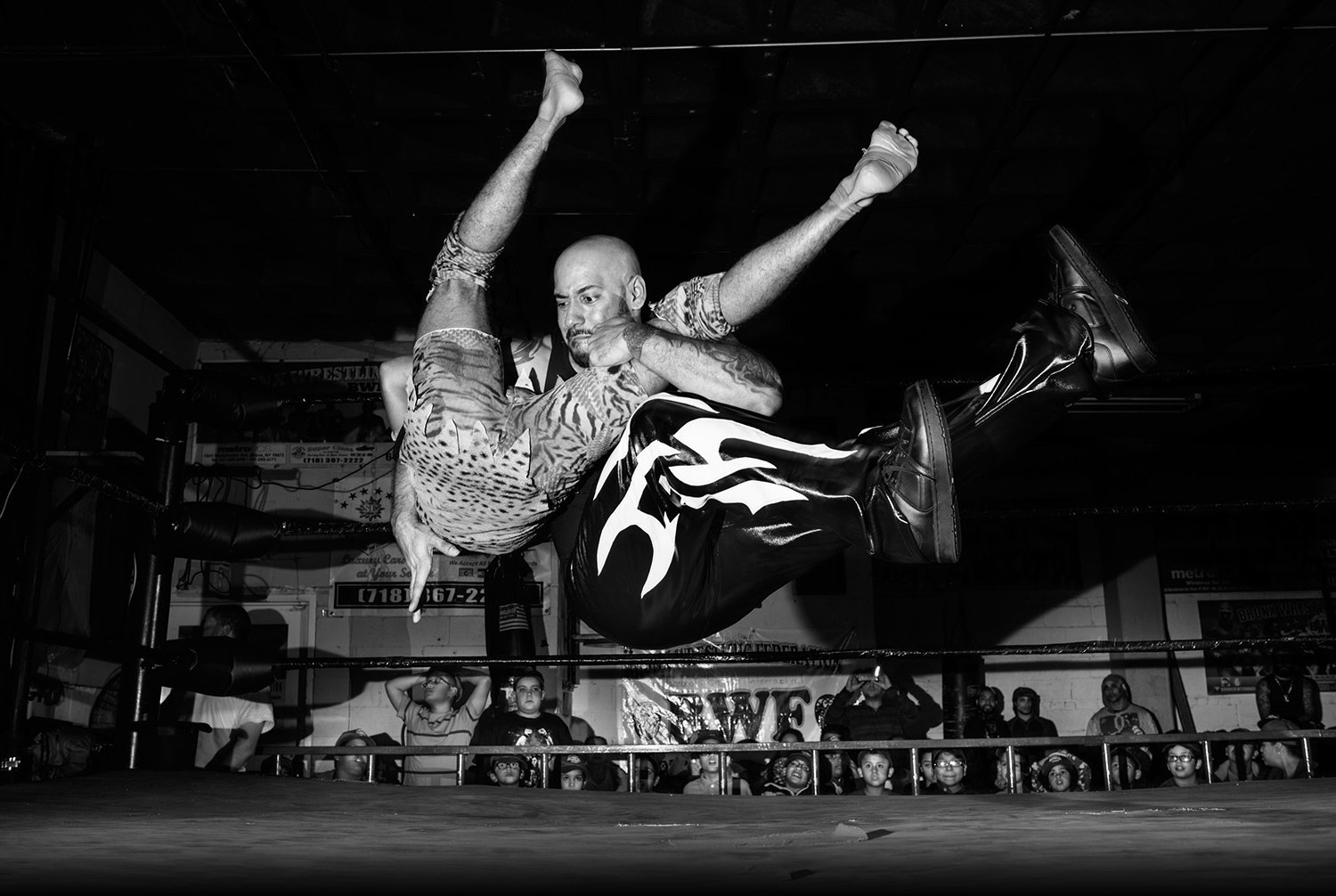 The lucha libre fighters of the Bronx. Image 1.
