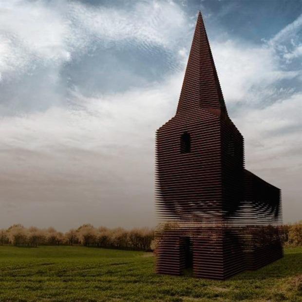 Фото: церковь, которая становится прозрачной