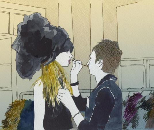 Что происходит, когда иллюстратора пускают на модный показ — Иллюстрация на Look At Me