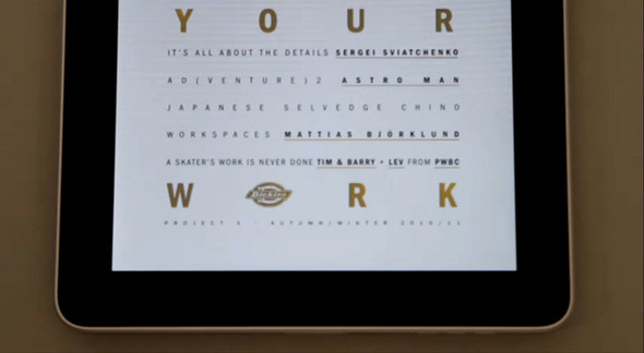 """Dickies презентовали """"Love Your Work"""" в виде приложения для Ipad — Мода на Look At Me"""