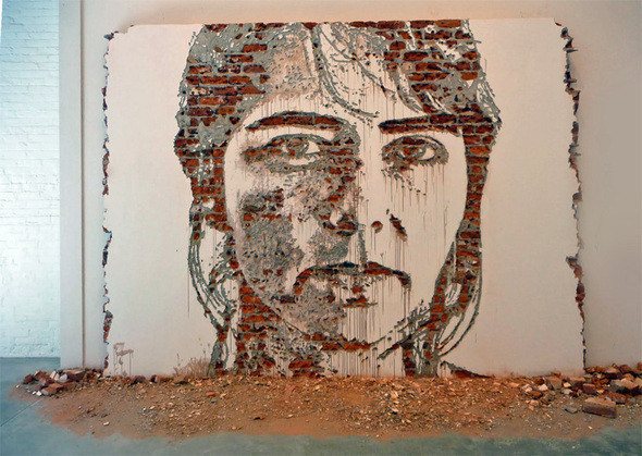 Субтрактивная настенная живопись — Стрит-арт на Look At Me
