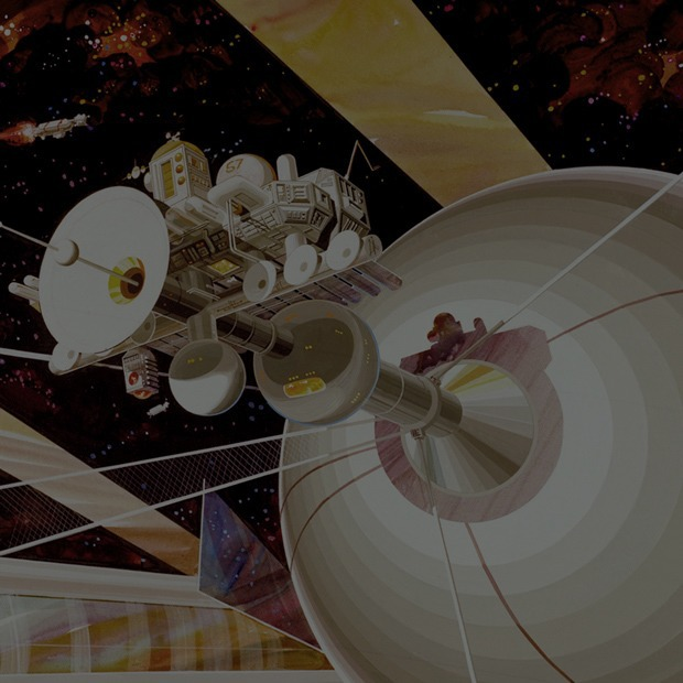 Рай не на земле: Какими в NASA представляли космические колонии будущего — Будущее на Look At Me
