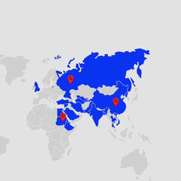 Россия и еще 22 страны, где больше нет свободного интернета