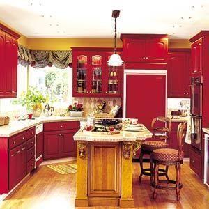 Модный красный или яркое решение для кухни — Интерьеры на Look At Me