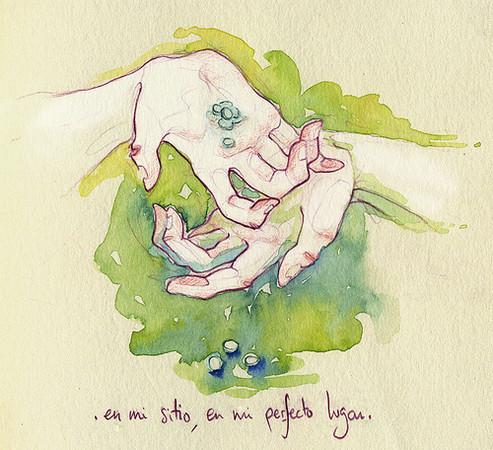 Чувства; карандашом и акварелью — Иллюстрация на Look At Me
