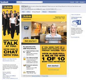 """ASB Bank открыл """"виртуальное отделение"""" в сети Facebook — Интернет на Look At Me"""