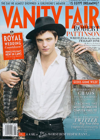 Robert Pattinson на Vanity Fair Апрель 2011 (США) — Журналы на Look At Me