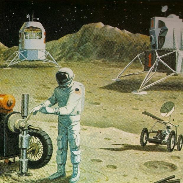 Как представляли колонию на Луне в 1969-м