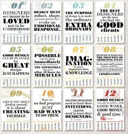 Календарь для дизайнеров от Harmonie Interieure — Дизайн на Look At Me