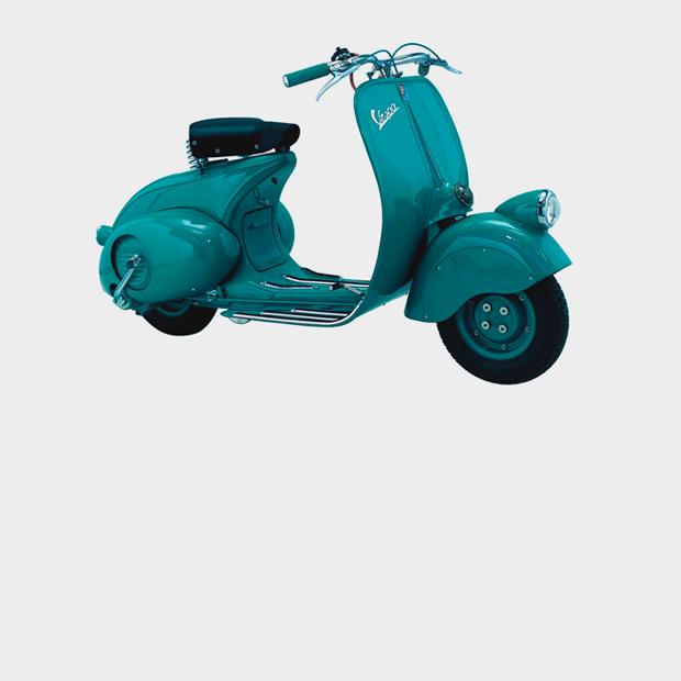 Дизайн-объект: Скутер Vespa, воплощающий итальянский модерн — Детали на Look At Me