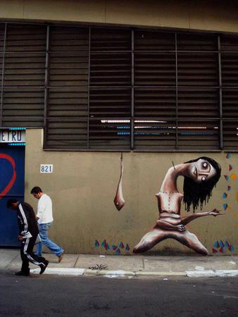 Девушка с улиц Сан-Паулу — Стрит-арт на Look At Me
