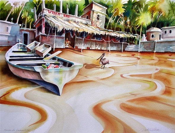 Волшебные акварели Mike Kleimo — Иллюстрация на Look At Me