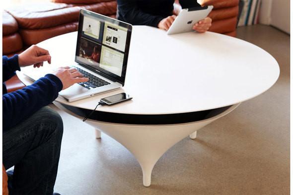 Голос из ниоткуда: кофейный столик со встроенными динамиками — Дизайн на Look At Me