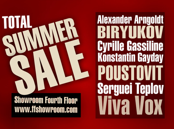 TOTAL SUMMER SALE в шоу-руме Fourth Floor