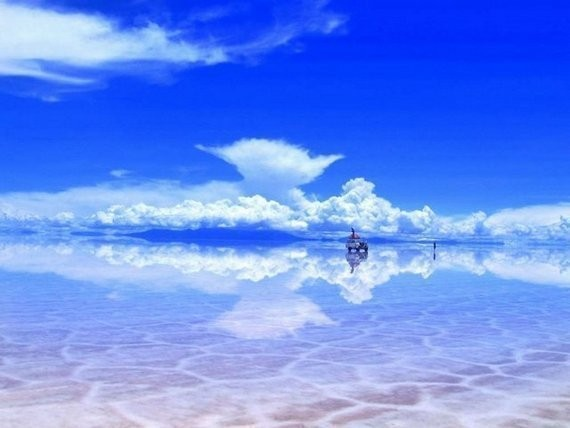 Зеркало Земли - озеро Salar de Uyuni — Дизайн на Look At Me