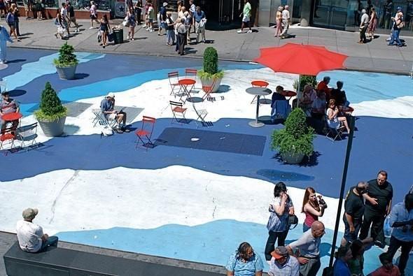 Оазис на Таймс-Сквер